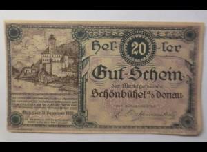 Notgeld, Österreich 20 Heller Schönbühel Donau, 1920 ♥ (8552)