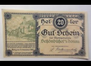 Notgeld, Österreich 20 Heller Schönbühel Donau, 1920 ♥ (45981)