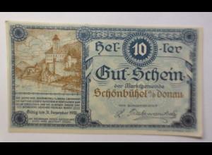 Notgeld, Österreich 10 Heller Schönbühel Donau, 1920 ♥ (8577)