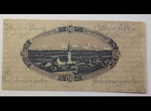 Notgeld, Österreich 10 Heller Stadtgemeinde Schwanenstadt 1920 ♥ (8639)