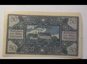 Notgeld, Österreich 50 Heller Stadt Utzenaich 1920 ♥ (8710)
