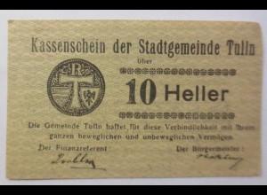 Notgeld Österreich 10 Heller Der Stadtgemeinde Tulin 1920 ♥ (8769)