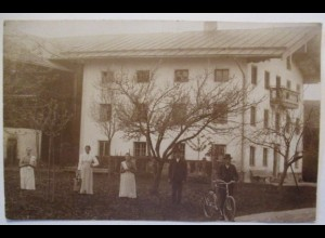 Frauen Männer Fahrrad, Fotokarte vermutl. Süddeutschland Österreich (9041)