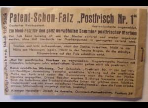 "Patent Schonfalze ""Postfrisch Nr.1"" FA de Hesselle OVP ca.1930 (25778)"