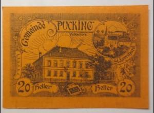 Notgeld Österreich 20 Heller Die Gemeinde Pucking 1920 ♥ (9066)