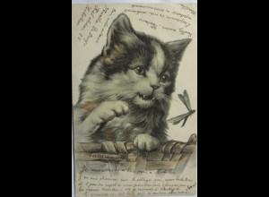 """""""Katze, Libelle"""" 1905, Serie 4110 ♥ (4306)"""