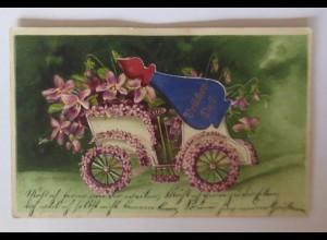 Geburtstag, Auto, Veilchen, 1907 ♥ (41698)