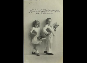Namenstag, Kinder, Mode, 1917 ♥ (1001)