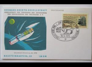 Raumfahrt, Hermann Oberth Gesellschaft, Bausteinkarte 85