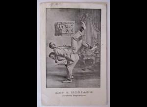 Zirkus, Die zwei Noriacs, Akrobaten, 1905 aus Frankreich