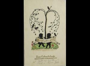 Geburtstag, Kinder, Scherenschitt, 1936, ♥ (1206)