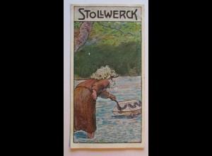 Stollwerck Sammelbild, Märchen, Der Sarg auf dem Wasser (1231)