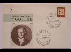 Persönlichkeiten Goethe Bundesrepublik FDC 1961 ♥ (13833)