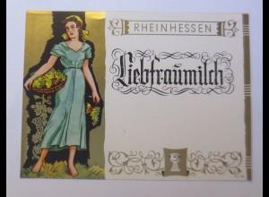 Weinetikett, Rheinhessen, Liebfraumilch, 1960 ♥