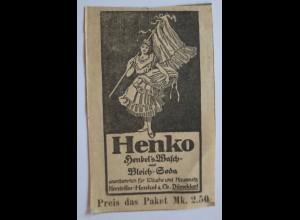 Werbung, Reklame, Henko Henkel´s Bleich Soda Düsseldorf (14287)