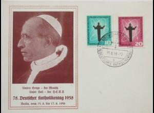 Religion, Deutscher Katholikentag 1958, Papst