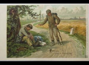 """""""Führe uns nicht in Versuchung"""" Künstlerkarte ca. 1910 (1512)"""