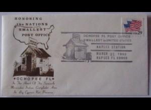 Post USA, Ochopee Florida, kleinste Postamt 1992