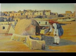 """Indianer,Pueblo, Indianerin, Backes, Brot, Backen"" 1939, J. R. Willis ♥"
