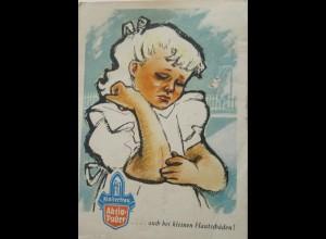 Reklame, Werbung, Klosterfrau, Aktiv Puder, Kinder, 1955, München ♥ (16406)