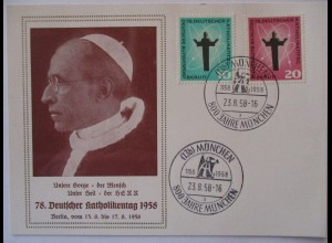 Religion 78. Deutsche Katholikentag 1958 Sonderkarte