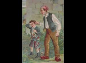 Kinder Lausbubenstreich Bestrafung, ca. 1918