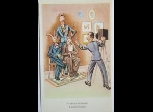 Eifersucht, gehörnte Männer mit Geweih, ca. 1940