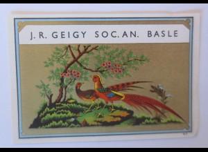 Werbung, Reklame Werbeetikette Medizin, J.R.Geigy SOC. AN. Basle ♥
