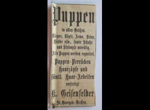 Werbung, Reklame, Puppen, St. Georgen - Diessen (21271)