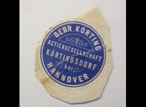 Vignetten, Verschlußmarken, Gebr. Körting Aktiengesellschaft Hannover ♥ (22793)