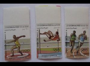 Somalia, Nr.353-355 Olympia 1984 postfrisch