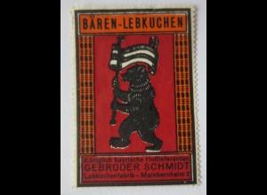 Reklame Werbung, Lebkuchen Reklamemarke Gebr. Schmidt (23397)