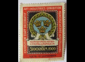 Industrieausstellung Stockholm 1909, ungebrauchte Vignette (2713)