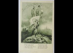 Soldat mit Handgranate und Fahne, Patriotik (2727)