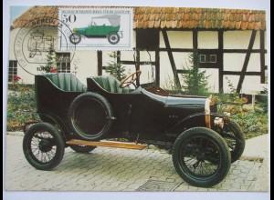 Auto, Wanderer Puppchen 1911, Maximumkarte 1982