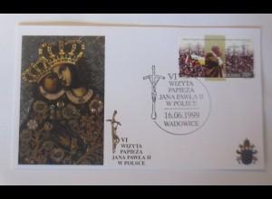 Papst Johannes Paul II. Sonderbrief Polen 1999 ♥ (28045)