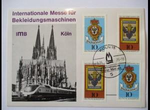 Messe für Bekleidungsmaschinen 1976 in Köln, Eisenbahn Zug TEE vor Dom
