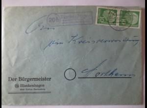Landpoststempel Blankenhagen über Northeim (Hannover), 1957