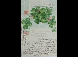 """""""Blumen, Kleeblatt, Jugendstil"""" 1905 ♥ (12950)"""