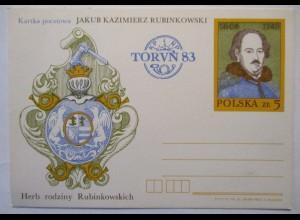 Polen, Jakub Rubinkowski, Sonderganzsache 1983 (2921)