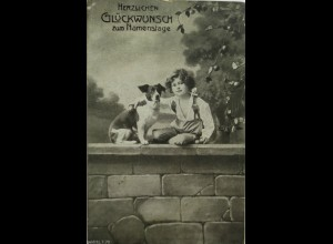 Namenstag, Kinder, Mode, Hund, 1920 ♥ (3024)