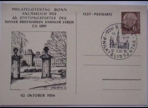 Briefmarken, Philatelie, Philatelistentag Bonn 1954