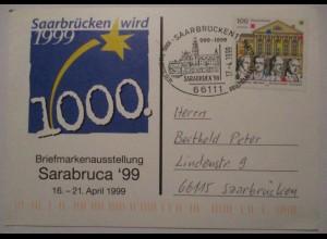 Saarbrücken 1000 Jahrfeier 1999 Sonderkarte