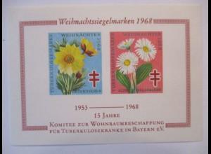 Wohnraum für Tuberkulosekranke Bayern 1968, Vignettenblock xx