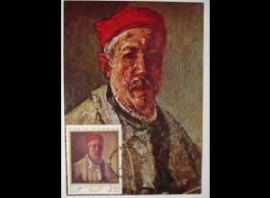 Rumänien Maximumkarte Gemälde Kunst Georghe Petrascu 1972