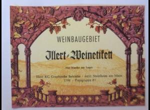 Weinetikett, Weinbaugebiet, Illert Weinetikett, Stenheim am Main,1960 er♥