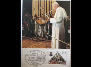 Religion, Papst Johannes Paul II., 1987, Augsburg