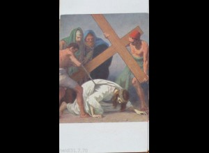 """Kreuzweg"" KJM Nr. 16217 Station 7, Jesus fällt zum zweiten Mal♥"
