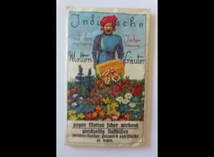"""""""Reklame,Indische Motten-Kräuter, gegen Motten sicher Wirkend""""ca.1910 ♥"""