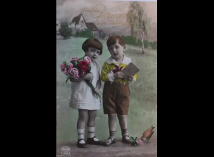 Namenstag, Kinder, Mode, Rosen, Vogel,1931 ♥ (2827)